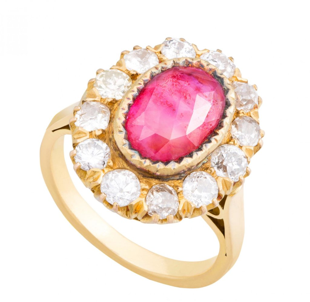 amrapali-ruby and diamond ring-london as a gift